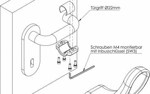 Hygiene Türöffner rund Ø22 mm
