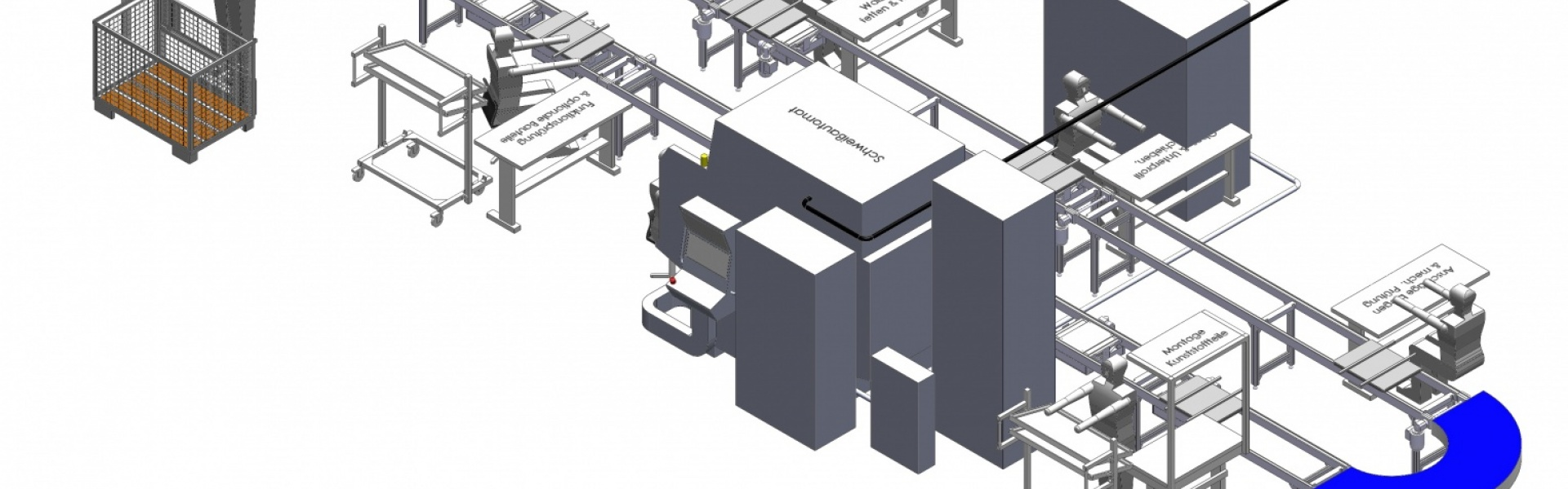 Konzeptkonstruktion Montagelinie
