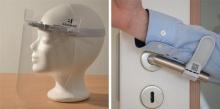 wiederverwendbarer Gesichtsschutz und hygiene Türöffner